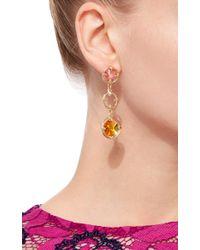 Oscar de la Renta - Orange Crystal Circle Drop Earrings - Lyst