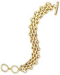 T Tahari | Metallic Brick Link Chain Bracelet | Lyst