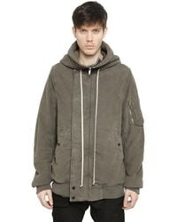 Rick Owens Gray Drkshdw Hooded Heavy Cotton Twill Jacket for men