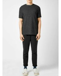 TOPMAN | Gray Grey Speckle Textured Slim Fit T-shirt for Men | Lyst