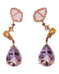 Sharon Khazzam - Purple Women's Dew Triple-drop Earrings - Lyst