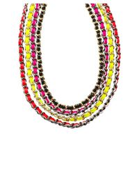 CC SKYE - Multicolor Multi Chain Necklace - Lyst