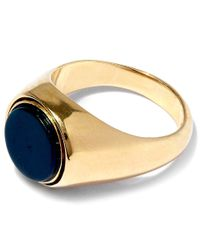 George Frost | Metallic Gold-plated Poison Justice Ring | Lyst