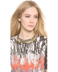 Aurelie Bidermann - Gray Copacabana Necklace - Charcoal - Lyst