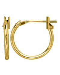Lord & Taylor | Metallic 14 Kt. Yellow Gold Polished Hoop Earrings | Lyst