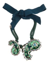 Lanvin | Green 'udaipur' Paisley Choker | Lyst