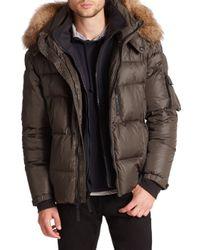 Sam. - Green Matte Mountain Fur-trimmed Puffer Coat for Men - Lyst