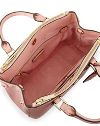 Tory Burch - Pink Robinson Micro Double-Zip Leather Shoulder Bag - Lyst