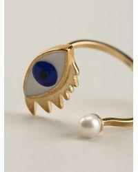 Delfina Delettrez | White 'eye Piercing' Ring | Lyst