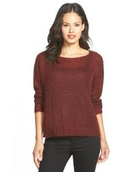Eileen Fisher | Brown Boxy Mohair Blend Sweater | Lyst