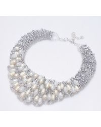 Nakamol | Metallic Isadora Necklace-white Pearl | Lyst