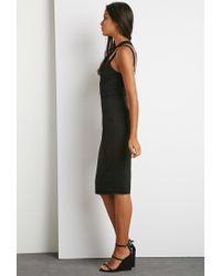 Forever 21 - Black Crisscross Strappy Dress - Lyst