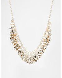 Oasis | Metallic Teardrop Cluster Necklace | Lyst
