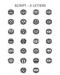 BaubleBar | Metallic Extra Large Acrylic Script Monogram Necklace | Lyst