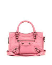 Balenciaga - Pink Classic Mini City Leather Tote - Lyst