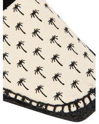 Tomas Maier - Black Palm-Print Espadrilles - Lyst