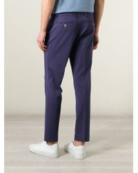 Paolo Pecora - Blue Tailored Jersey Trousers for Men - Lyst