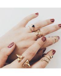 Bing Bang | Metallic Illuminated Eye Ring | Lyst