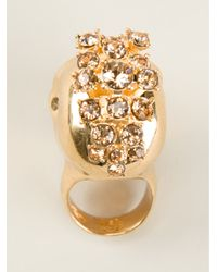 Alexander McQueen - Metallic Mohican Skull Cocktail Ring - Lyst