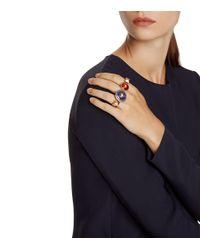 Tory Burch - Multicolor Semiprecious Stone Triple-finger Ring - Lyst