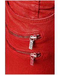 BOSS Orange - Red Slim-fit Jeans: 'orange J20 London' With A Special Coating - Lyst
