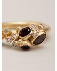 Ruth Tomlinson - Red Garnet Encrusted Ring - Lyst