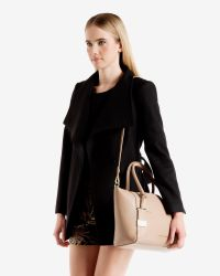 Ted Baker - Natural Large Leather Tote Bag - Lyst