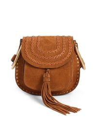 Chloé - Brown Hudson Mini Suede Cross-Body Bag  - Lyst