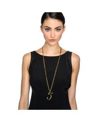 Lulu Frost - Metallic Plaza Number Necklace - Pearl Chain - Lyst