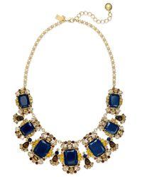 kate spade new york | Blue Beach Gem Statement Necklace - Aqua Multi | Lyst