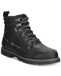 Sperry Top-Sider - Black Authentic Original Waterproof Lug Boots for Men - Lyst