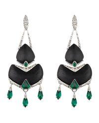 Alexis Bittar - Black Crystal Deco Chandelier Earring - Lyst