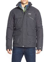 Helly Hansen | Gray 'universal' Moto Rain Jacket for Men | Lyst