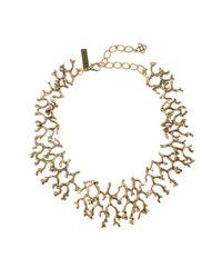 Oscar de la Renta - Metallic Russian Gold Coral Branch Necklace - Lyst