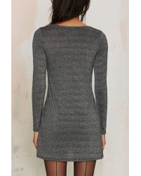 Nasty Gal - Gray After Party Vintage Silver Bullet Mini Dress - Lyst