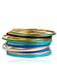 Astley Clarke - Green Mint Velvet Enamel Bangle Medium - Lyst