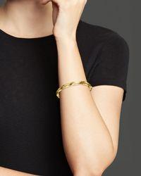 Roberto Coin | Metallic 18k Yellow Gold Oval Bangle | Lyst