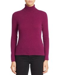 Lord & Taylor | Purple Petite Cashmere Turtleneck Sweater | Lyst