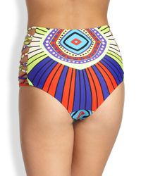 Mara Hoffman - Blue High Waisted Bikini Bottom - Lyst