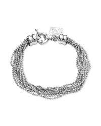Anne Klein - Metallic Silvertone Ball Chain Multi-Strand Bracelet - Lyst