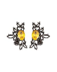 Iosselliani | 'black On Black Memento' Clip-on Earrings | Lyst