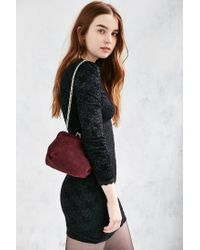 Kimchi Blue - Red Suede Kiss Lock Bag - Lyst