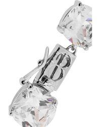 Kenneth Jay Lane | Metallic Rhodium-Plated Cubic Zirconia Necklace | Lyst