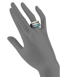 Michael Kors - Metallic Matchstick Stacking Ring Set/silvertone - Lyst