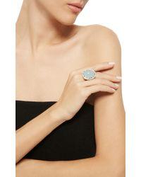 Paul Morelli - Blue Oval Window Baguette Ring - Lyst