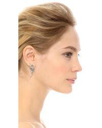 DANNIJO | Metallic Willis Earrings - Clear/ox Silver | Lyst