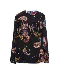 MSGM | Multicolor Memphis-print Silk Blouse | Lyst