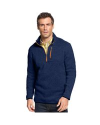 Izod | Blue Quarterzip Fleece Pullover for Men | Lyst