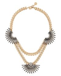 Lulu Frost | Metallic Beacon Gold-Plated Crystal Necklace | Lyst