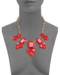 kate spade new york | Red Swirl Around Necklace | Lyst